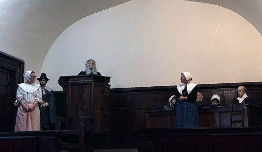 The Witch Dungeon Museum started with a mock trial, the actresses were legitimately good, despite the challenge of having to converse with a mannequin