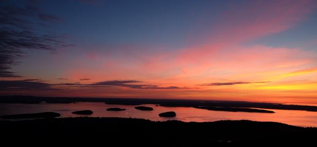 Sunrise from Cadillac Mountain (Photo by Kari-Lise)