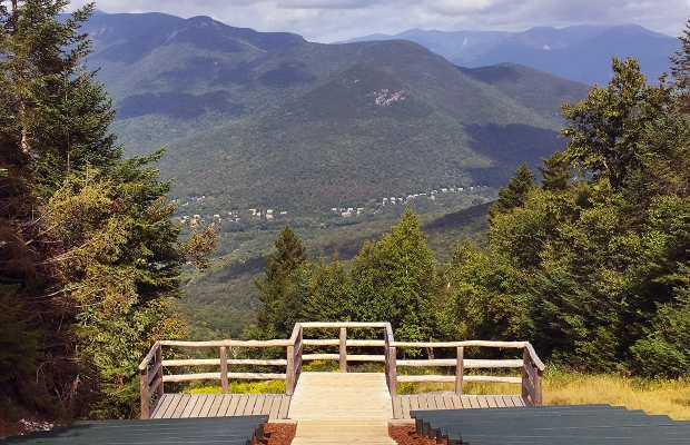 The stunning location of the wedding atop Loon Mountain