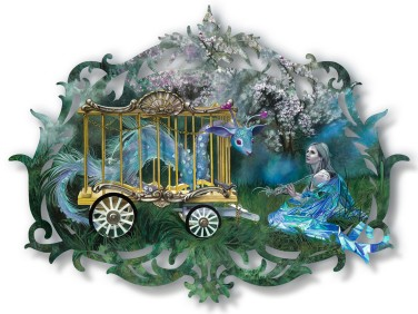 "Redd Walitzki — ""The Dream Cage"" 2018, Oils over Mixed Media on Lasercut Acrylic Panel"