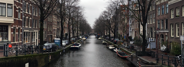 One of the nearby canals in Jordaan.
