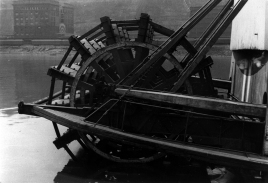 Sternwheel of an unidentified steamboat
