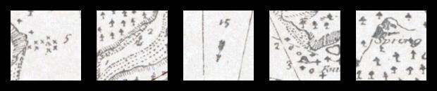 Details of Robert Louis Stevenson's map of Treasure Island