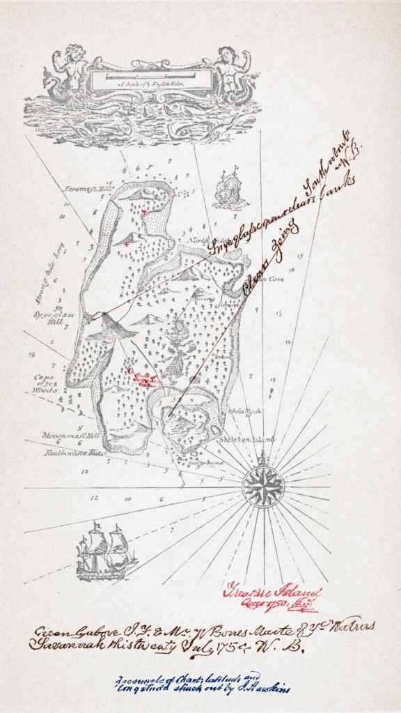 Stevenson's map of Treasure Island