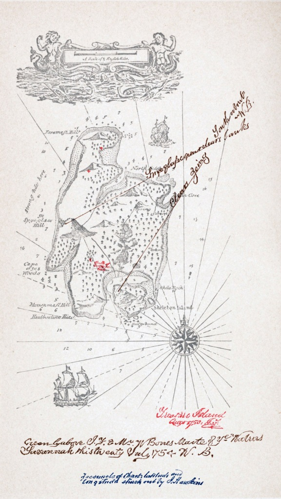Stevenson's map of Treasure Island