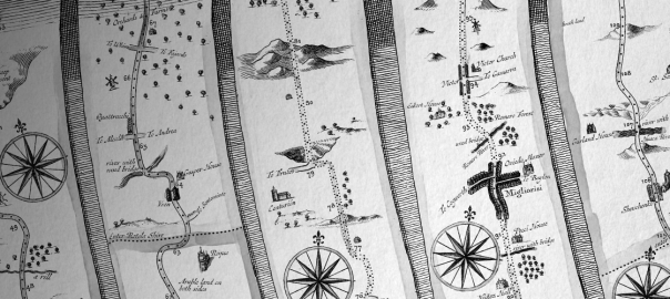 Ogilby: A Free 17th Century Road Atlas Brush Set