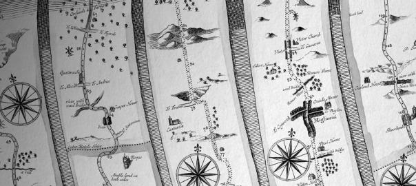 Ogilby: A Free 17th Century Road Atlas Brush Set