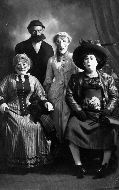 Costumed Revelers
