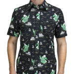 Cthulhu Short Sleeve Button-up Shirt