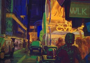 Syd Mead - Blade Runner Cityscape
