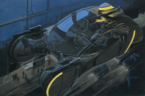 """Syd Mead - """"Spinner Perspective View"""""""