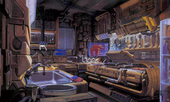 "Syd Mead - ""Deckard's Kitchen"""