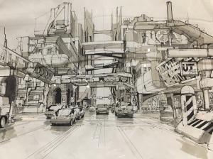 """Syd Mead - """"City Sketch"""""""