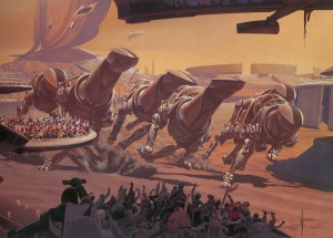 """Syd Mead - """"Running of the Six Drgxx"""""""