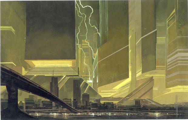"Syd Mead - ""Cityscape Lightening"""
