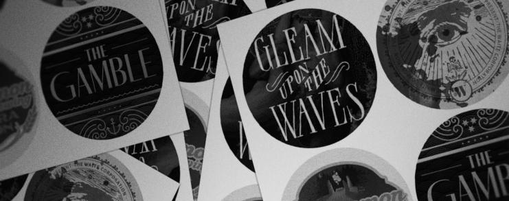 Gleam Upon the Waves sticker set